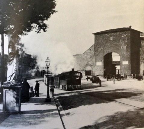 Porta Romana - La stazione del trenino del Chianti (1878)