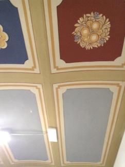 Il soffitto originale della cucina dell'Antica Osteria di Montecarelli