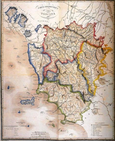 Carta della Toscana (1847)