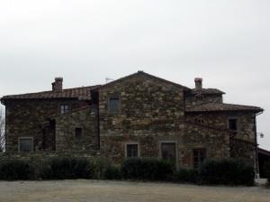 Colline del Chianti nei pressi della Val di Pesa, esempio di colonica