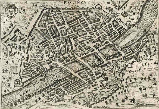 Fausto Amidei Firenze a volo d'uccello 1761