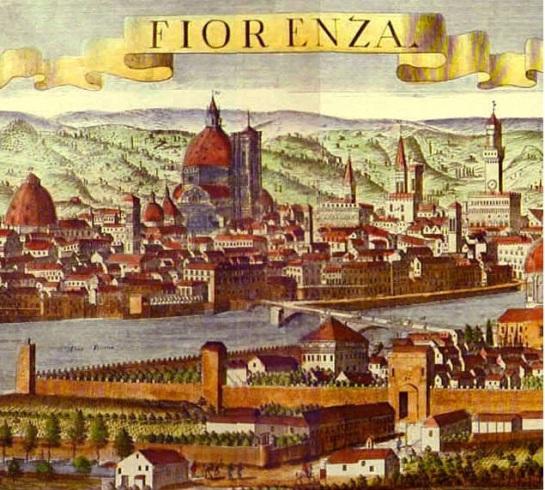 Firenze in una veduta cinquecentesca