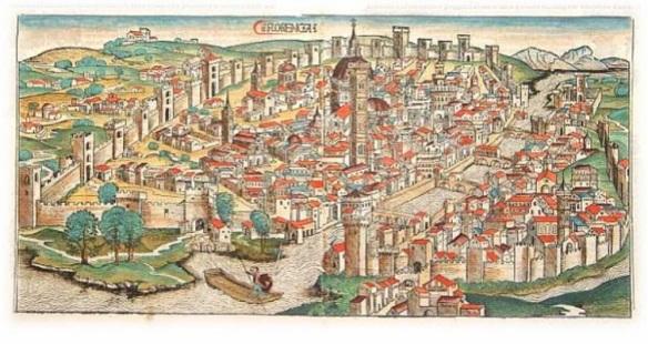 Firenze in una mappa del 1493