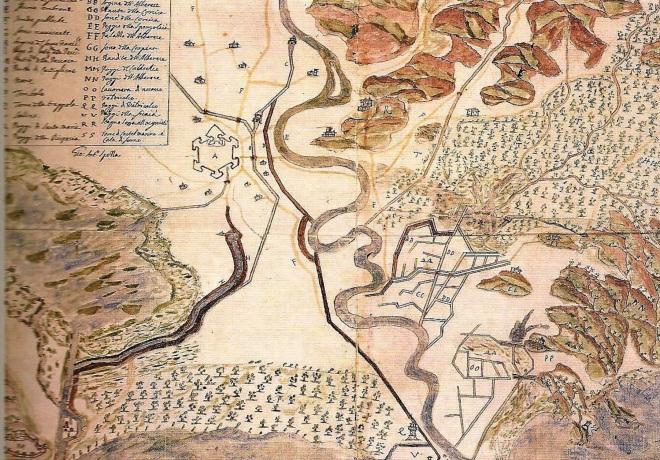 La pianura di Grosseto e la foce dell'Ombrone (sec. XVII)