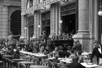 Caffè Paszkowski in una foto d'epoca