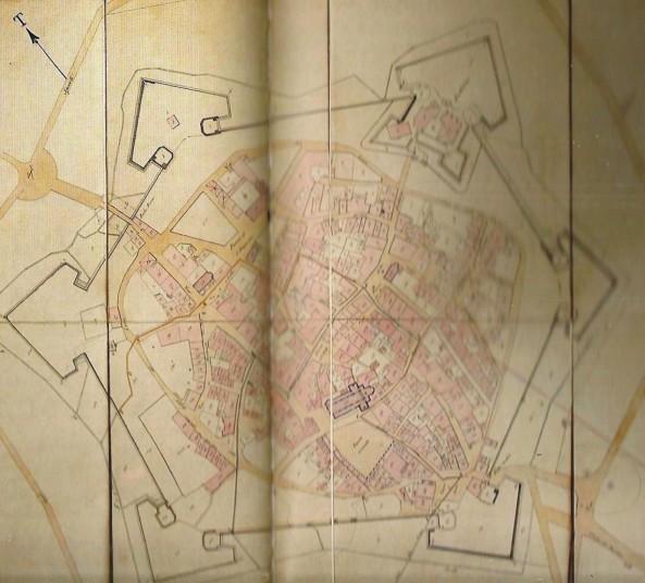 Pianta della città di Grosseto (primi '800)
