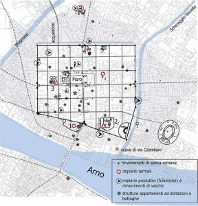 Pianta di Firenze romana