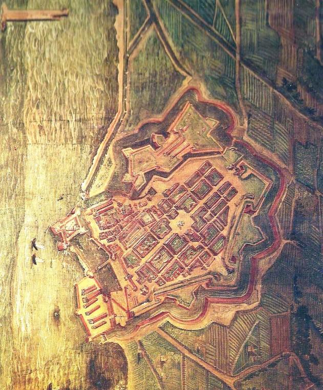 Pianta prospettica di Livorno (1609)