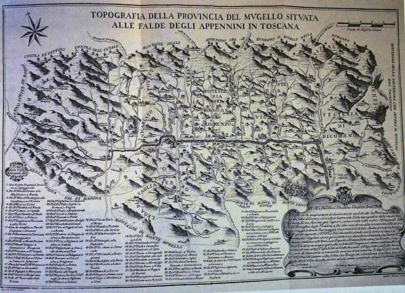 Pianta topografica della Provincia del Mugello