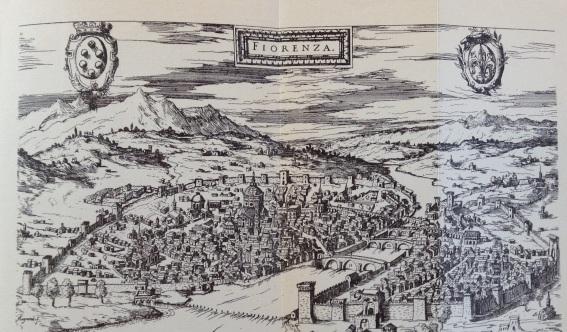 Firenze in una mappa datata 1569