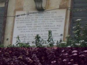 Fornace, Vila Gori particolare della piastra marmorea