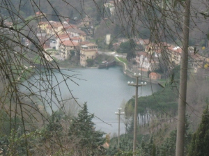 Londa il lago e il ponte sul Rincine