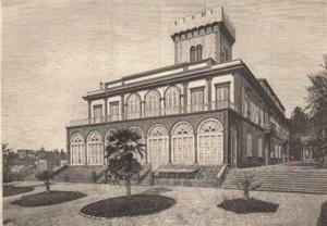 Firenze villa Fabbricotti in un'immagine di fine Ottocento