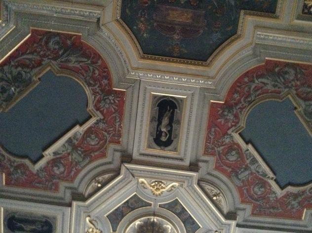 Villa Fabbricotti il soffitto del salone del piano terreno che si affaccia sulla terrazza