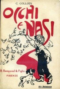 Carlo Collodi la copertina di Occhi e Nasi