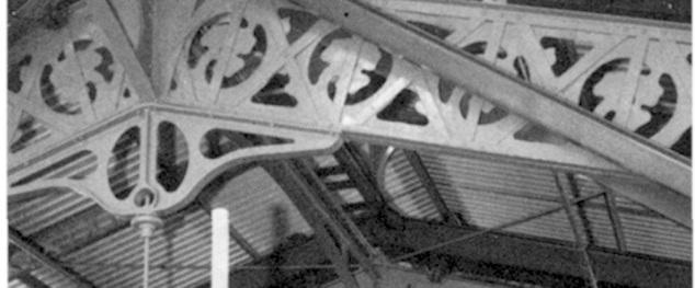 Firenze Mercato di San Lorenzo un particolare della struttura