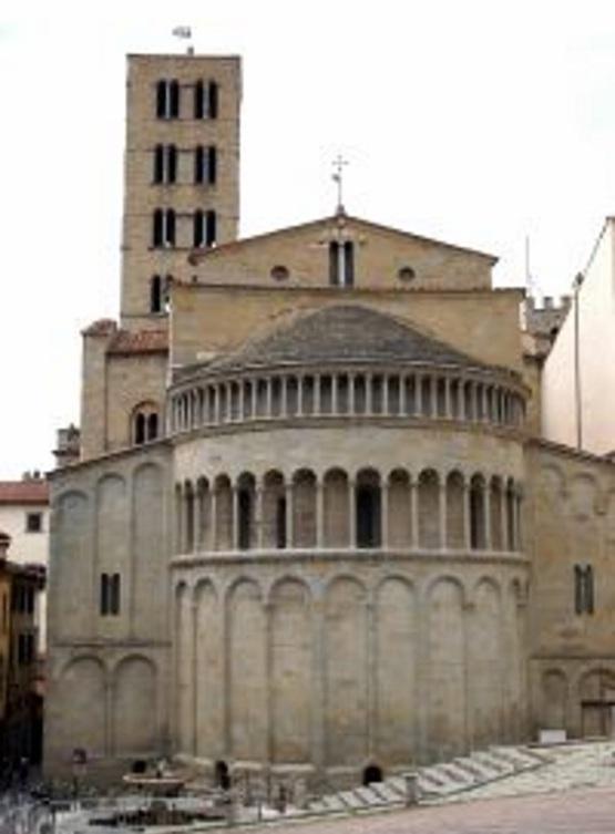 Arezzo Santa Maria della Pieve, l'abside