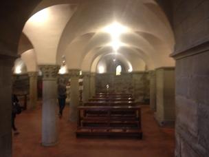 Arezzo Santa Maria della Pieve, interno la cripta