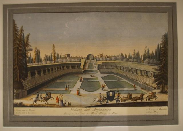 Il giardino di Boboli in una stampa del XVIII secolo