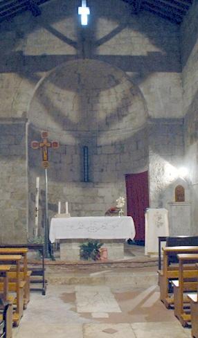 San Lorenzo a Merse l'interno della Pieve, particolare dell'abside