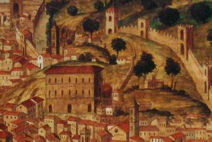 Palazzo Pitti e l'orto dei Pitti nella Pianta della catena del XV secolo