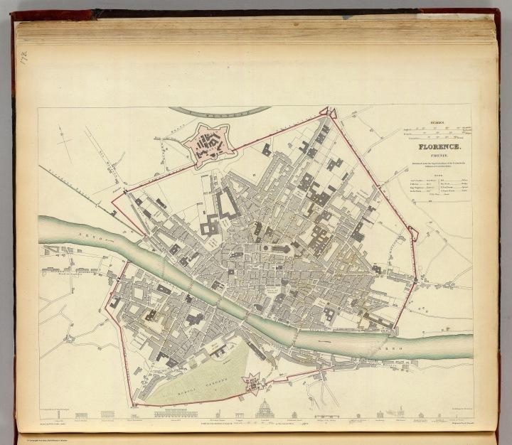 Pianta di Firenze nel 1835
