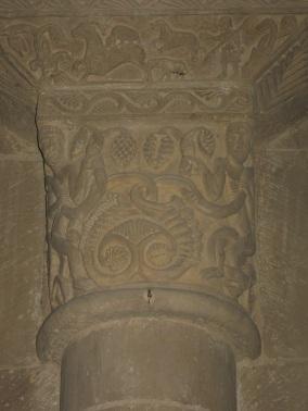 Pieve a Ponte allo Spino, un capitello all'interno della pieve