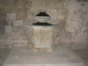 Pieve a Ponte allo Spino, il fonte battesimale