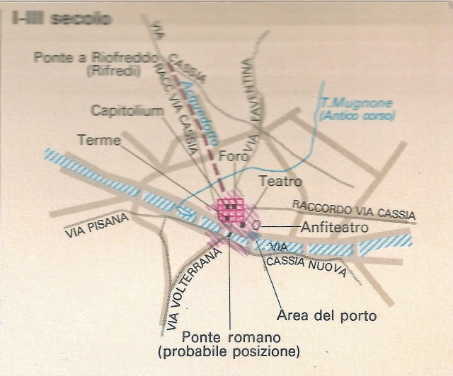 Pianta di Firenze I-III secolo