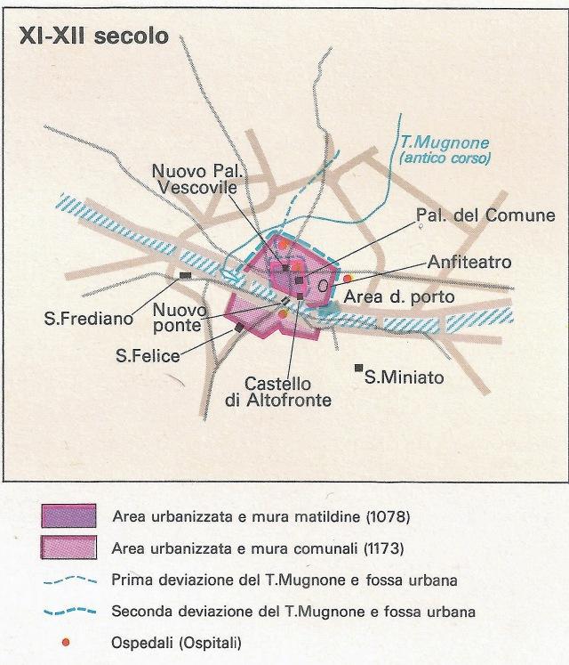 Pianta di Firenze XI-XII secolo