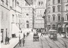 1890 - Via de' Pecori capolinea del servizio per Sesto Fiorentino e Cascine