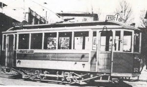 1939 - Tram al deposito delle Cure