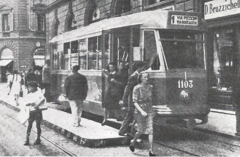 1943 - Tram al capolinea in via De' Pecori
