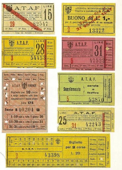 Titoli di viaggio in uso fra il 1947 e il 1953