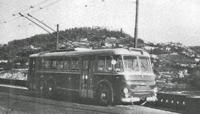 1952 - Filobus Viberti sulla Bolognese nuova