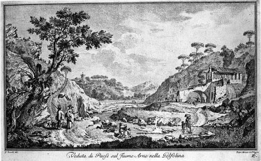 La Gonfolina - stampa di Giuseppe Zocchi del 1744