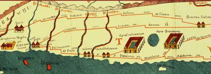 La via Pisana nella Tabula Peutingeriana da Florentia Tuscorum a Pisis