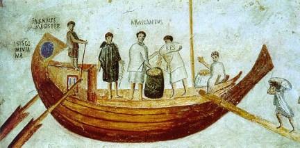 Navis Caudicaria - affresco del II-III secolo d.C. (Musei Vaticani)