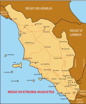 Etruria, la VII Regio secondo la ripartizione di Ottaviano