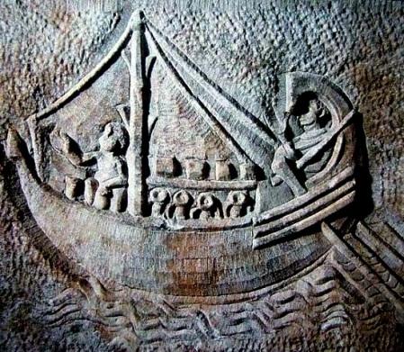 Bassorilievo di una nave oneraria dell'età imperiale