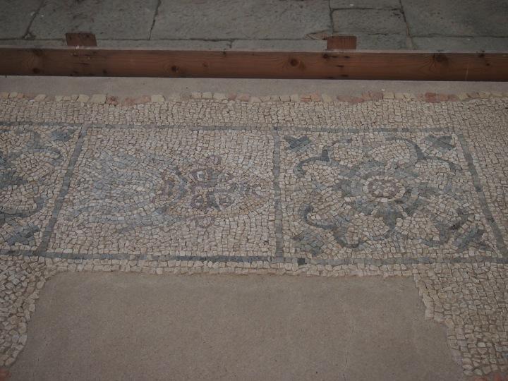 Luni, il Sileno, particolare del mosaico