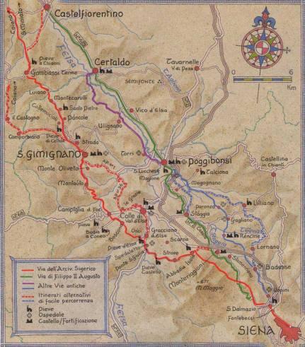 Francigena a nord di Siena