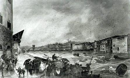 Giovanni Signorini alluvione ottobre 1844
