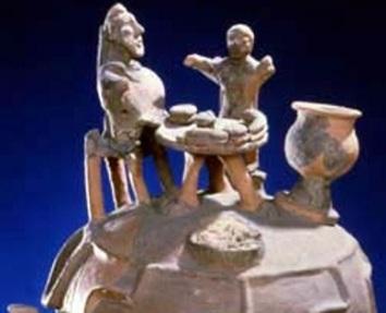 Coperchio urna cineraria di Montescudaio