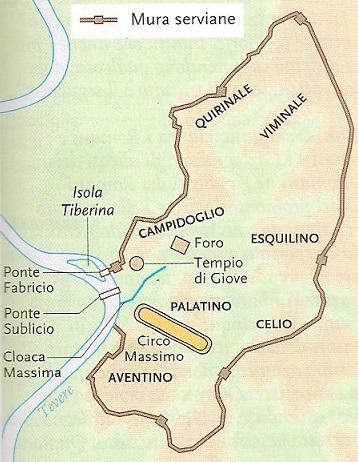 Pianta di Roma in epoca monarchica