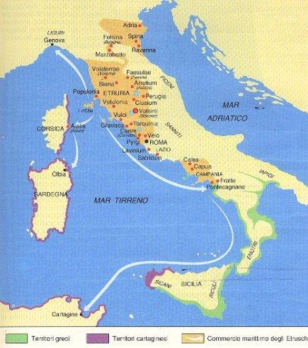 Rotte commerciali etrusche nel Tirreno