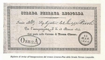 Biglietto omaggio per il viaggio inaugurale