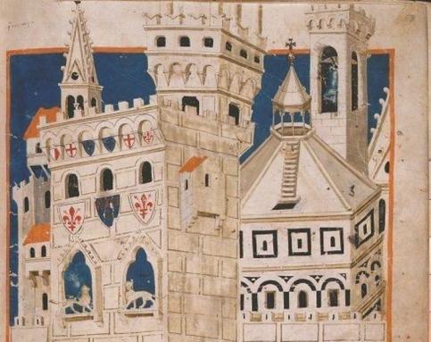 Veduta di Firenze nel XII secolo (particolare)