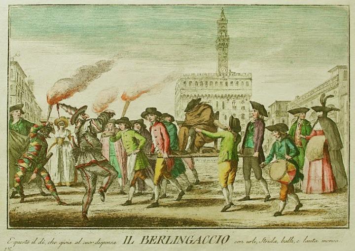 festa del Berlingaccio a Firenze 1700