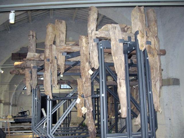 Museo delle navi antiche di Pisa, la nave D in fase di allestimento